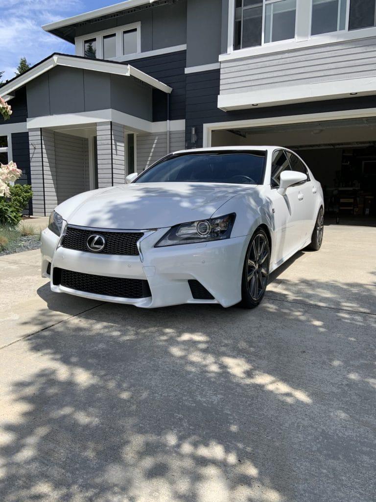 White Lexus Car