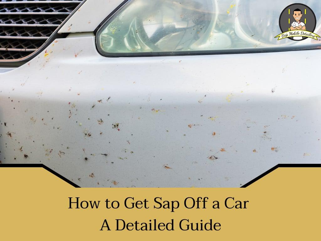 how to get sap off a car